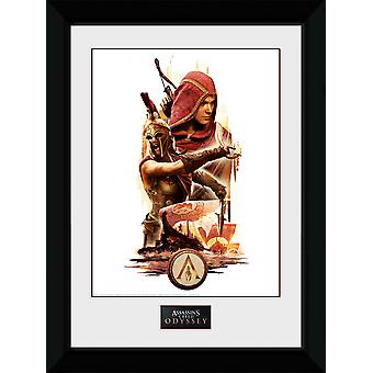 Assassins Creed Odyssey Collage indrammet Collector Print
