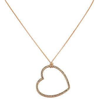s.Oliver damer halsband halsband med hjärta hängsmycke 39.802.9A.2543-0024