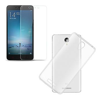 Xiaomi Redmi note 2 / Redmi note 2 Prime cell phone cover pocket ultra thin only 0.3 mm case cover sleeve shell + tank glass real glass display protection