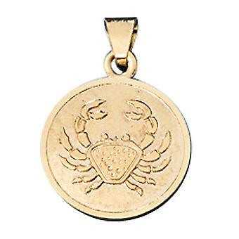 Aanhangwagen Zodiac kanker goud 333 geel goud Cupid