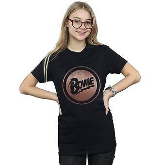 Oro rosa cerchio Boyfriend David Bowie femminile Fit t-shirt