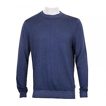 Ted Baker Mens Abelone Crew Knit Sweater (Blue)