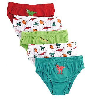 Boys Tom Franks Kids 100% Cotton Printed Slip Briefs pants underwear 5 Pack