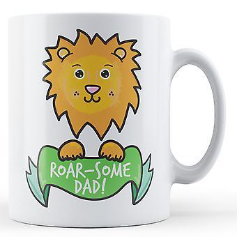 Roar-noen pappa! Løve - trykte krus