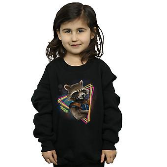 Marvel Girls Guardians of the Galaxy Neon Rocket Sweatshirt