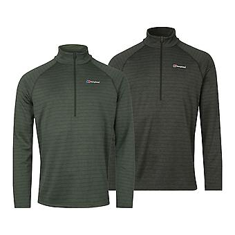 Berghaus Mens Thermal Long Sleeve Zip Tech Tee