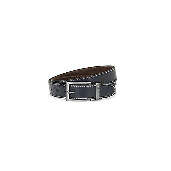 Ted Baker Men's Black Lizard Reversible Belt