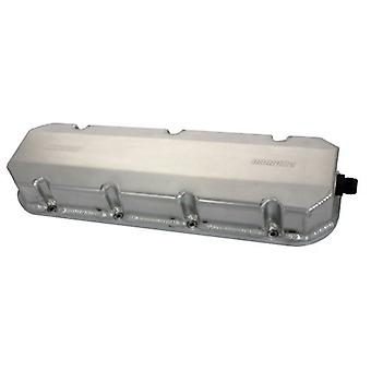Moroso 68356 Aluminum Billet Rail Valve Cover with 12AN Fitting for Big Block Chevy