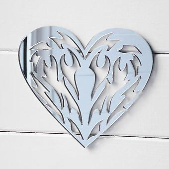 Tribal Tattoo Love Heart Acrylic Mirror