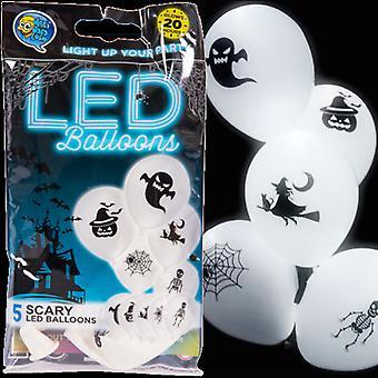 LED Halloween ballons-blanc