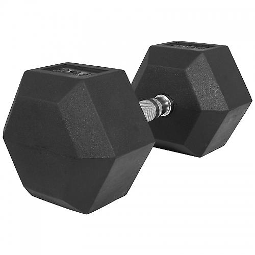 1 x  32,5kg Halt�re Hexagonal en Caoutchouc