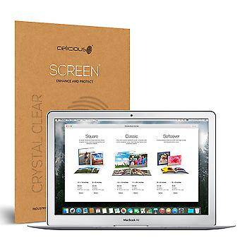 Celicious Vivid Invisible Glossy HD Screen Protector Film Compatible with Apple MacBook Air 13 A1466 (2015) [Pack of 2]