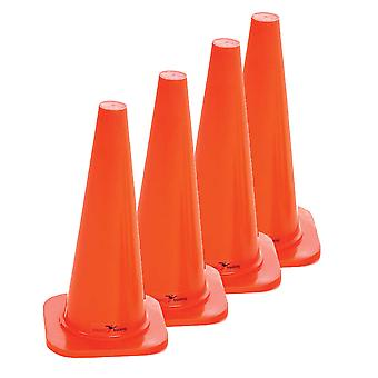 Precision Safety Football Rugby Training Traffic Marker Cones 18'' (Set of 4)