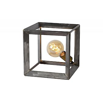 Lucide Thor Vintage Square Metal Natural Iron Table Lamp