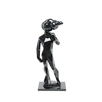 Florencia man sculpture statue modern living room decoration gloss black