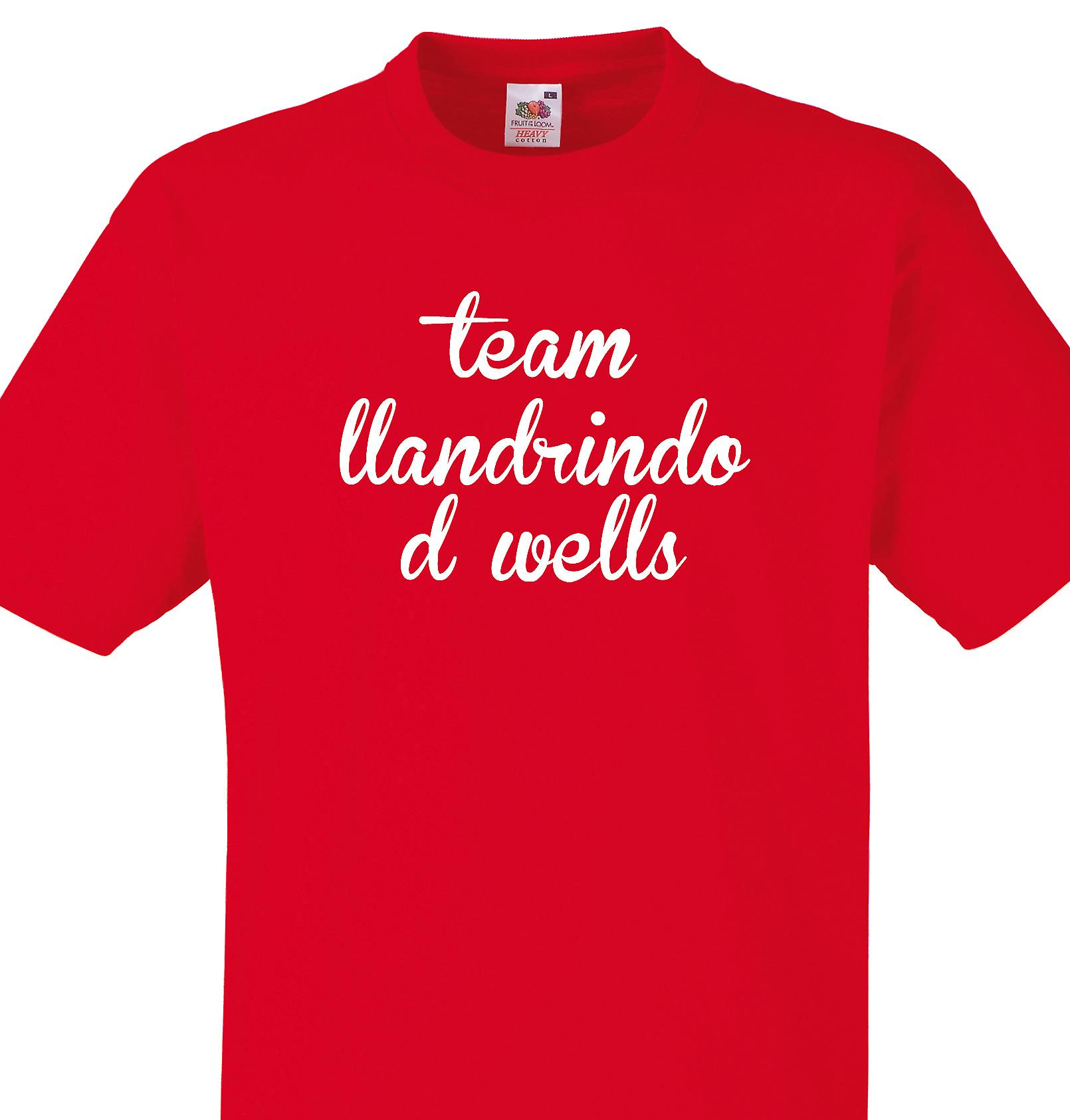 Team Llandrindod wells Red T shirt