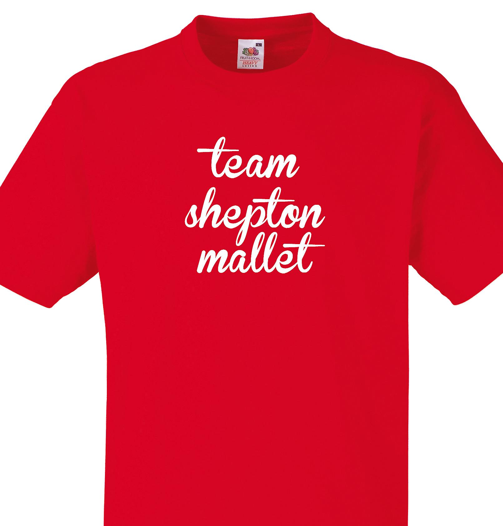 Team Shepton mallet Red T shirt