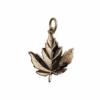 9ct or 22x19mm solid Maple Leaf pendentif ou charme