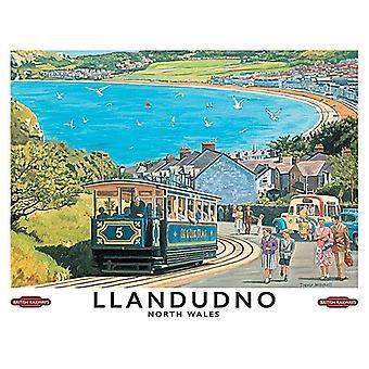 Llandudno (old British Rail ad.) 90mm x 65mm fridge magnet  (og)