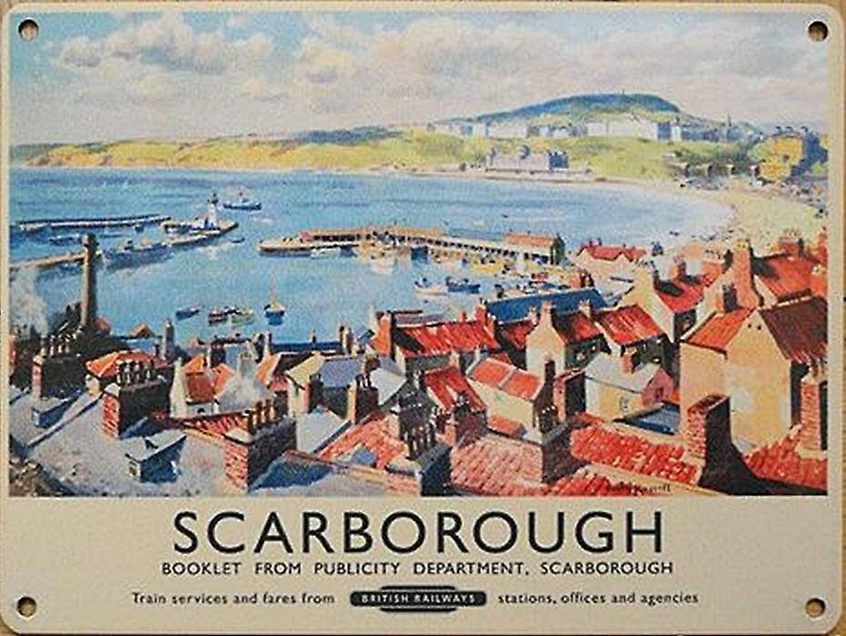 Scarborough (old rail ad.) metal sign  (og 4030)