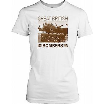 Stora brittiska bombplan VÄRLDSKRIGET damer T Shirt