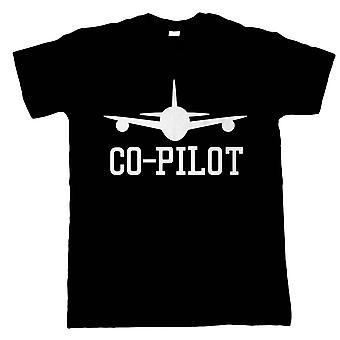 Co-pilot Mens T-Shirt | Bachelor Hirsch Jungs Jungs Alkohol Ehe gebunden | Pop Kultur Geschenk ihm
