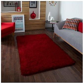 Rugs - Monte Carlo Shaggy Rugs In Red