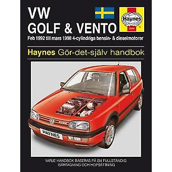 Vw Golf III & Ventro (Swedish) Service and Repair Manual - 9780857338