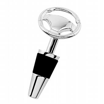 Car Steering Wheel Metal Wine Bottle Stopper in gift box