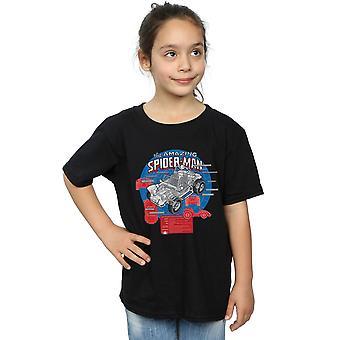 Marvel Girls Spider-Man Spider-Buggy Breakdown T-Shirt