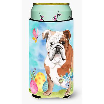 English Bulldog Easter Tall Boy Beverage Insulator Hugger