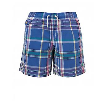 Polo Ralph Lauren Childrenswear Multi Checked Drawstring Swim Shorts
