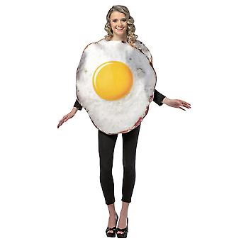Adult Fried Egg Food Novelty Funny Fancy Dress Costume