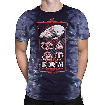 Liquid blue - led zeppelin tour uk 1971 -  tie-dyed t-shirt .