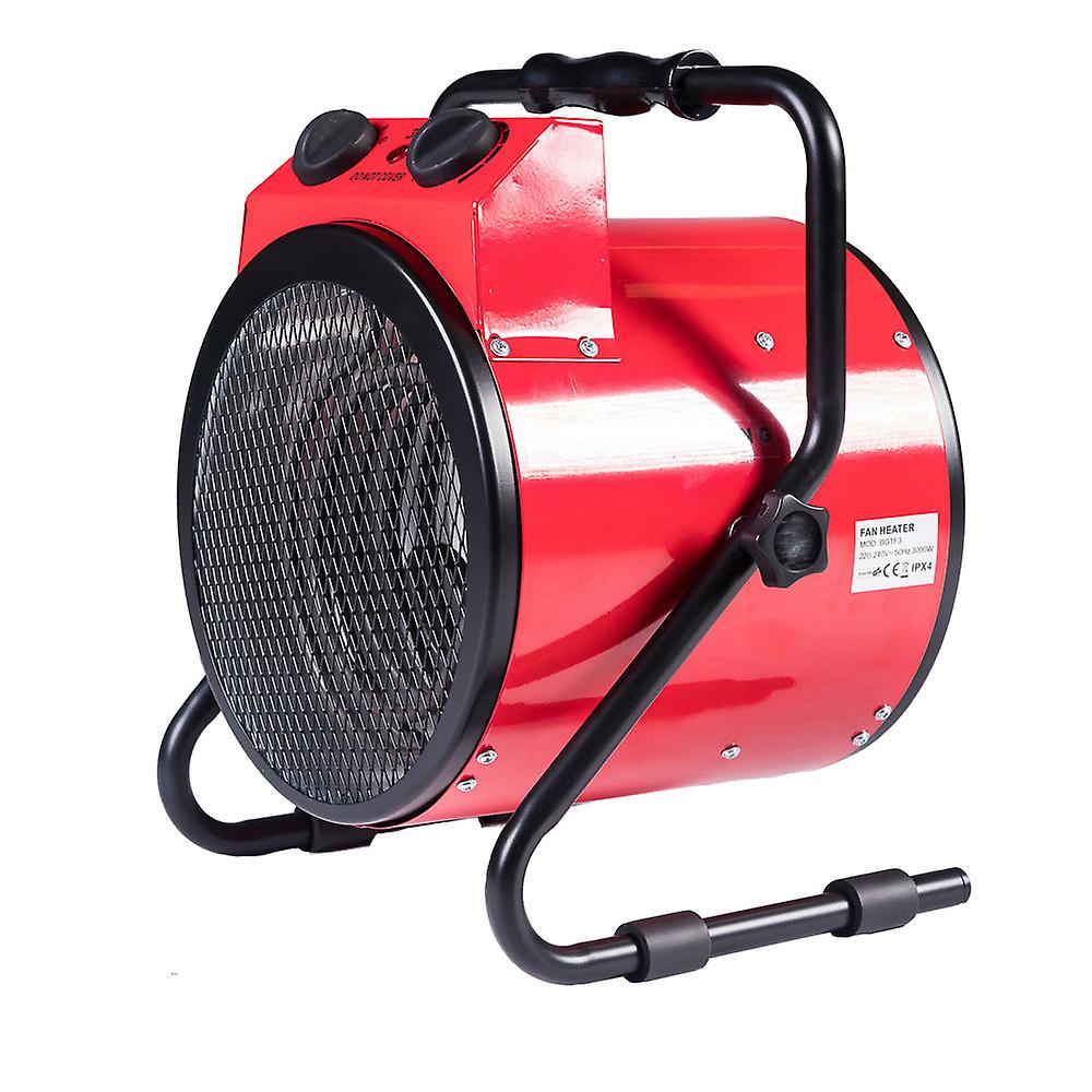 Portable Round 3KW Tilting Fan Space Heater Warmer with Adjustable Thermostat