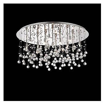 15 lumière extra large semi Flush plafonnier pendentif chrome