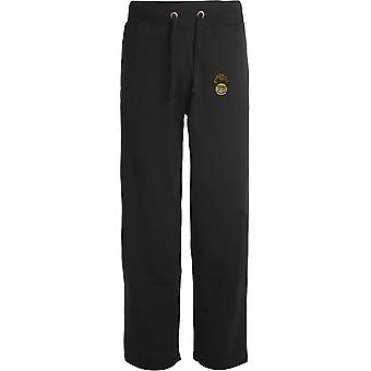 Royal Munster Fusiliers - Licensed British Army Embroidered Open Hem Sweatpants / Jogging Bottoms
