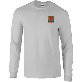 Escuela de Instructor de Infantería - Camiseta de manga larga bordada del Ejército Británico con licencia