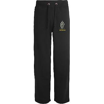 Royal Ulster Rifles RUR Veteran - Licensed British Army Embroidered Open Hem Sweatpants / Jogging Bottoms