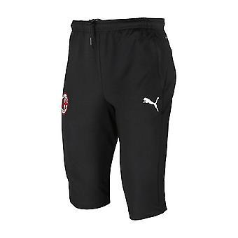 2019-2020 AC Milan Puma três quartas de comprimento calças de formação (preto)