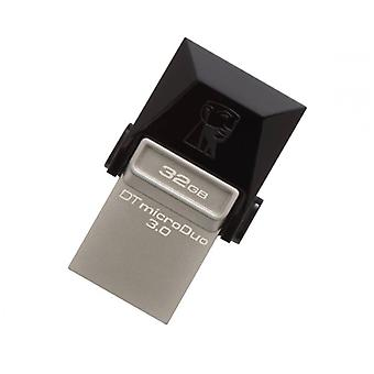 Kingston DTDUO3 32 GB USB Flash Drive en micro USB 3,0 zwart grijs