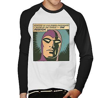 The Phantom Nemesis Of Evil Doers Men's Baseball Long Sleeved T-Shirt