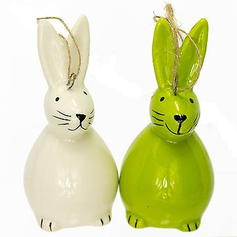 Ceramic Hanging Bunny Rabbit for Easter Trees | Easter Trees & Ornaments