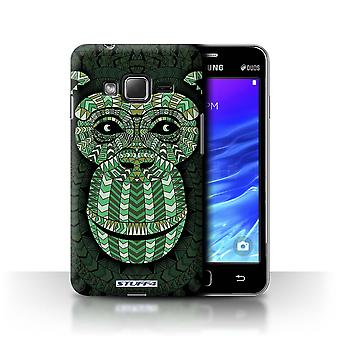 STUFF4 Tilfelle/Cover for Samsung Z1/Z130/Monkey-Green/Aztec dyr