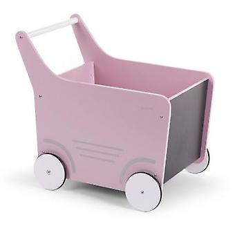 CHILDHOME Carrito Juguetero Rosa (Babys, Spielzeug, Baby-Trolleys und Roadrunners)