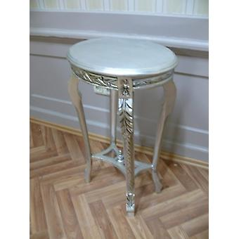 side table silver oval antique style baroque AlTa0334SiOvS