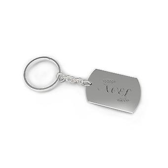 Noel Engraved Dog Tag Key Chain Cute Keychain Christmas Gift Holiday Gifts