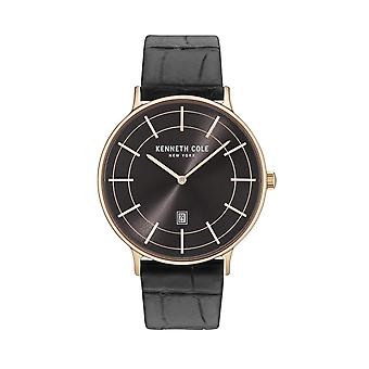Kenneth Cole New York men's watch wristwatch leather KC15057014