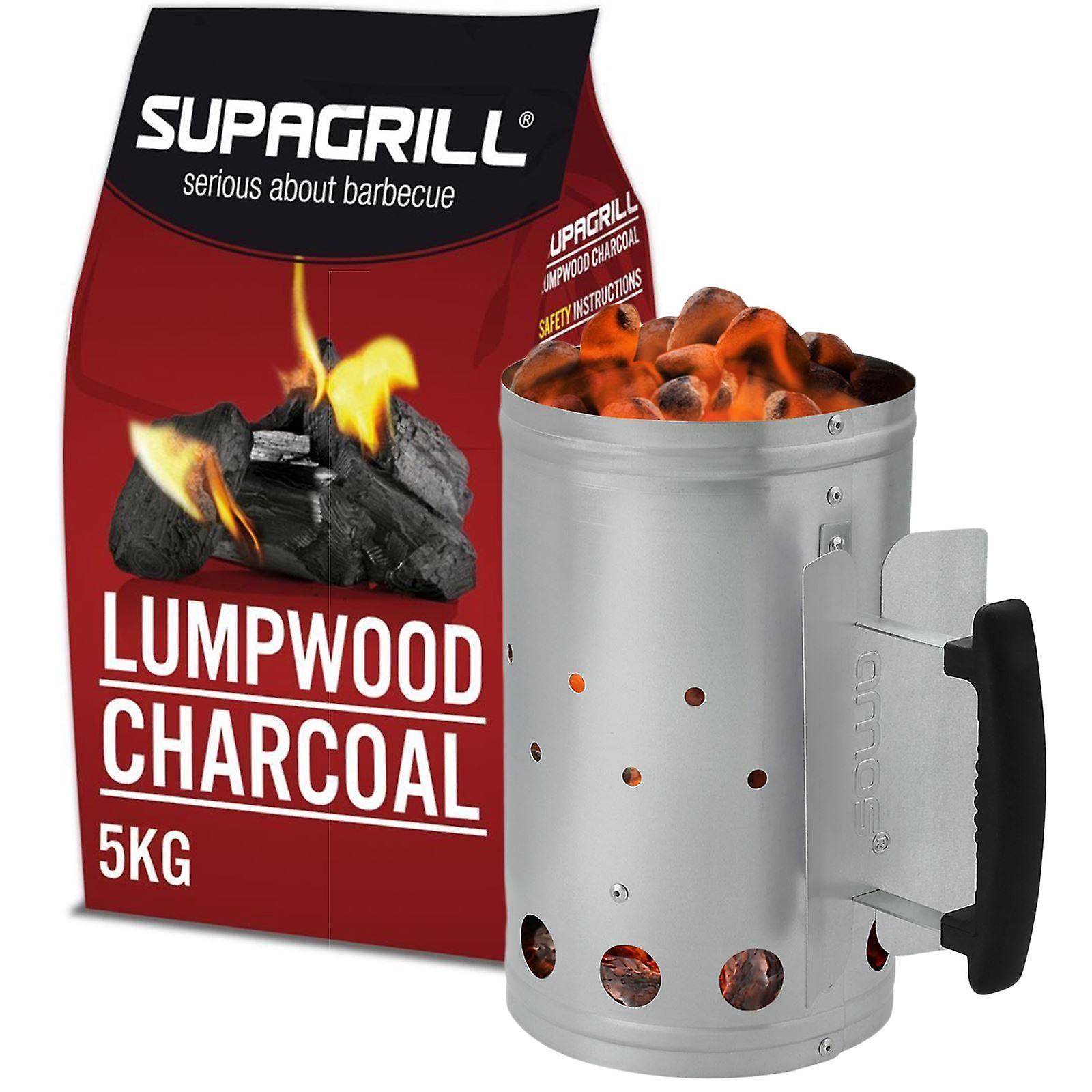 AMOS Chimney Starter (Small) with Charcoal 5kg
