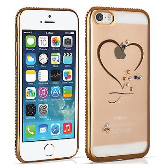 Apple iPhone 5 5s and SE Diamond Edge Case Gold